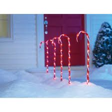 sienna 26in lighted candy cane pathway markers outdoor and