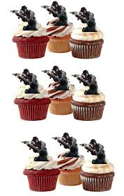 call of duty cake topper call of duty soldiers edible stand up wafer paper cupcake toppers