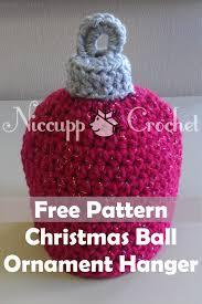 niccupp crochet christmas ball ornament hanger crochet tutorial