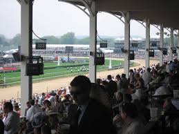 this seat is an overhang at churchill downs