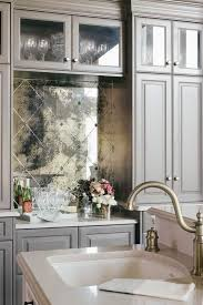 mirrored backsplash in kitchen pattern antiqued mirrored backsplash tiles kitchens