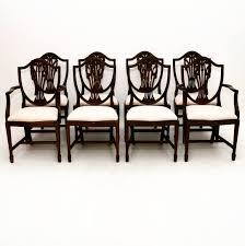 set of 8 antique adam style mahogany dining chairs at marylebone