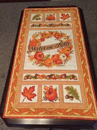 Fall Table Runners by Quilted Fall Table Runner
