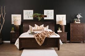 three piece traditional solid wood bedroom set in golden brown
