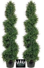silk topiary trees spiral evergreen tree artificial juniper tree