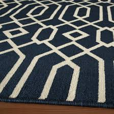 Rugs For Outdoors Shop Baja Navy Geometric Outdoor Rug 2ft 3in X 7ft 6in Momeni
