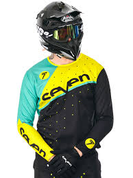 mens motocross jersey seven mx black yellow 2016 zero omni mx jersey seven mx
