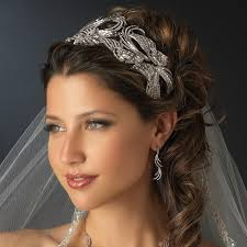 bridal tiara royal silver clear rhinestone bridal tiara bridal hair