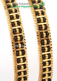 bracelet gold black images 22k gold bangles with black beads set of 2 1 pair gbl675 jpg