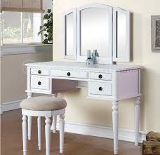 make up dressers tri fold white vanity makeup 3 mirror table set dresser drawers in