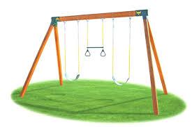 idyllic cedar view wooden swing set cedar view wooden swing set