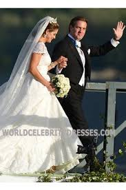 Wedding Dress For Less Princess Madeleine Of Sweden Cap Sleeves Lace Celebrity Wedding