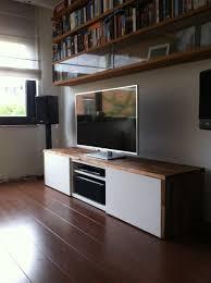 stylish tv audio cabinet ikea hackers besta tv unit with acacia
