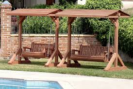 bench swings woodoperating project free shed plan