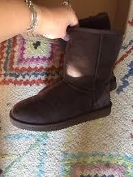 used womens boots size 9 used womens brown cozie steps genuine australian sheepskin