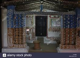 gond tribal house bhopal madhya pradesh india stock photo