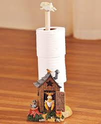 Christmas Moose Home Decor 1 Toilet Paper Holder Lodge Log Cabin Outhouse Moose Raccoon