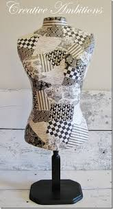 Make your own decorative dress form DIY someday