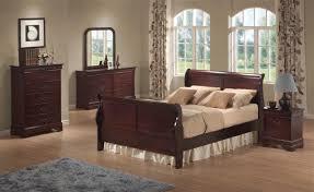 Cherry Wood Sleigh Bed Cherry Wood Queen Sleigh Bedroom Set Houston Mattress King