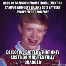 Samsung Meme - goes to samsung promotional event on cus and gets galaxy s3 s