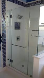 right angle frameless shower doors from glass by design