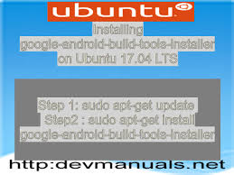 android build tools android build tools installer on ubuntu 17 04 lts