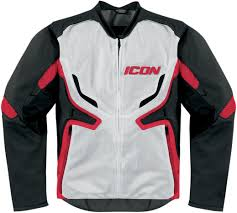 mesh motorcycle jacket icon compound mesh jacket red