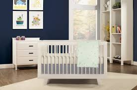 White Cabinets With Blue Walls Bedroom Baby Nursery Room Decoration With White Crib By Babyletto