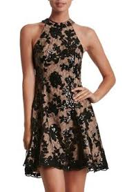jessa foil lace dress textured floral high neck shift dress with