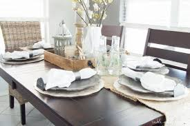 dining room table settings dining room table settings dining room update a coastal farmhouse