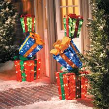 lighted stacked gift boxes decoration improvements catalog