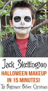 Jack Pumpkin King Halloween Costume 15 Minute Jack Skellington Halloween Makeup Happiness Homemade
