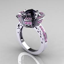 black and pink engagement rings black band and pink diamond rings wedding ideas ring diamantbilds