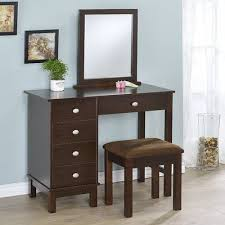 Espresso Vanity Table Alcott Hill Gannaway Vanity Set With Mirror Color Products