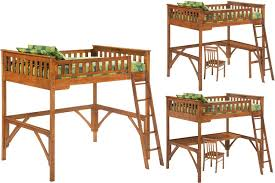 full size kids loft bed oak loft bed full the futon shop