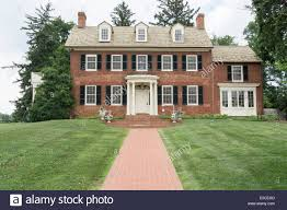 historic house at woodlawn manor in sandy spring maryland stock