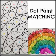 toddler dot paint activity rainbow theme preschool paint color