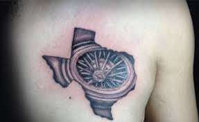 compass amazing and simple texas map tattoo golfian com