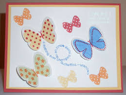 butterflies rubber sting card with yapha