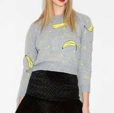 banana sweater banana knit sweater for gray pullover cropped