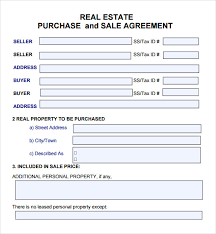 28 free real estate purchase agreement template 1076 best