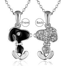 women necklace accessories images Buy allwin new cute for snoopy pendant rolo necklace women gift jpg