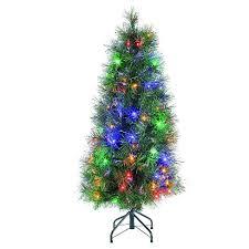 4ft christmas tree 4ft pre lit led artificial christmas tree slim fiber optic