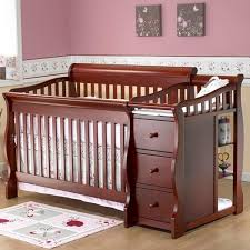 Cribs And Changing Tables Cribs With Attached Changing Table Dresser Combine Furniture Baby