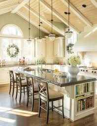 pottery barn kitchen ideas bright country kitchen with large island and cathedral ceiling