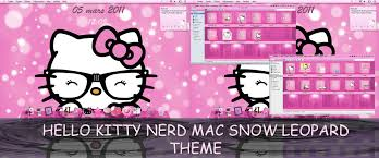 background themes mac my hello kitty nerd theme for mac snow leopard by ladypinkilicious