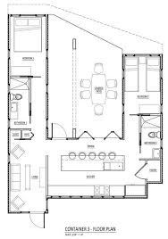 shipping container homes plans floor plan for a home using three shipping containers in a u