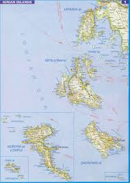 Greece Islands Map by Ionian Islands Map Ionian Islands Greece U2022 Mappery