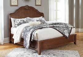 California King Sleigh Bed Balinder Medium Brown Cal King Size Sleigh Bed With Shell Motif