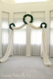 wedding backdrop altar garage sales r us diy wedding archway wedding archways